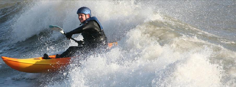 kayak surfant